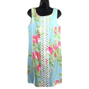 Lilly Pulitzer Cathy Shift Dress Pool Blue Pink